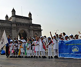 Club Enerji Rally at Gateway of India