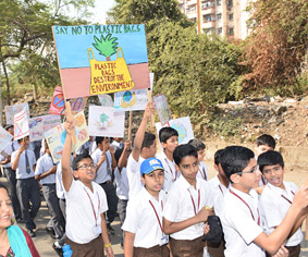 Say no to plastic event rally by Club Enerji