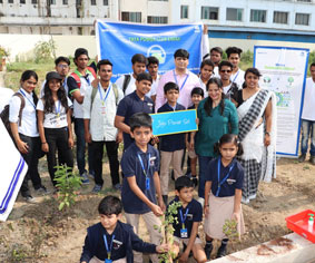 Say no to plastic campaign at Rahul International School