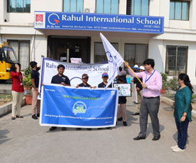 Say no to plastic event, Rahul International School