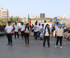 Say no to plastic rally by Rahul International School students