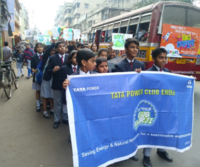 Save water rally organised by Club Enerji in Kolkata
