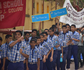 Club Enerji Campaign rally by Pawar Public School